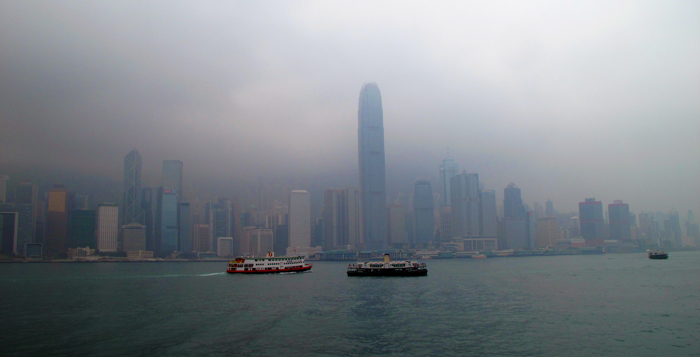 Hong-Kong-skyline-on-a-foggy-day